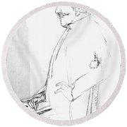 James Whistler's Portrait Round Beach Towel