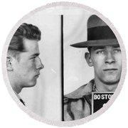 James Whitey Bulger Mug Shot 1953 Horizontal Round Beach Towel
