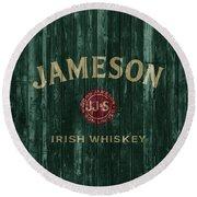 Jameson Irish Whiskey Barn Door Round Beach Towel