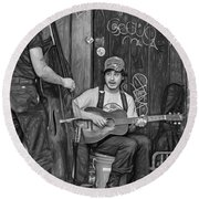 Jammin' In The French Quarter 2 - Paint Bw Round Beach Towel