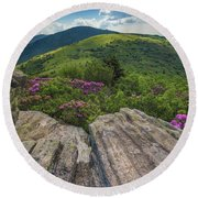 Jane Bald Rhododendrons Round Beach Towel