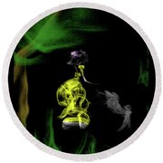 Jane Of The Jungle Round Beach Towel