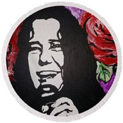 Janis Joplin Round Beach Towel