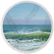 January Day 2 Round Beach Towel