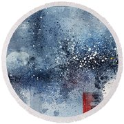 January Round Beach Towel