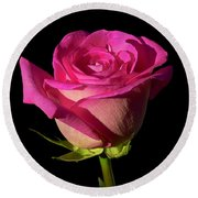 January Rose Round Beach Towel