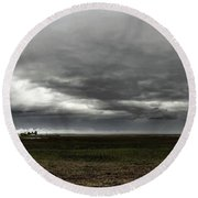 Round Beach Towel featuring the photograph January Surprise by Laura Ragland