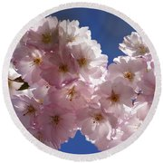 Japanese Flowering Cherry Prunus Serrulata Round Beach Towel