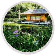 Japanese Gardens II Round Beach Towel