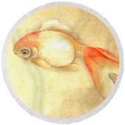 Japanese Goldfish Round Beach Towel