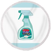 Japanese Kitchen Detergent Round Beach Towel