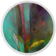 Round Beach Towel featuring the painting Japanese Longstem  by Iconic Images Art Gallery David Pucciarelli