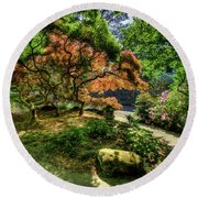 Japanese Maples In Spring Round Beach Towel