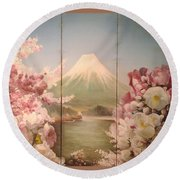 Japanese Spring Round Beach Towel
