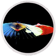 Japanese Umbrellas Assorted Colors Round Beach Towel