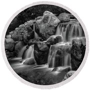Japanese Waterfalls Round Beach Towel
