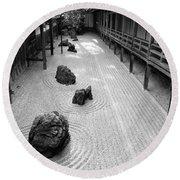 Japanese Zen Garden Round Beach Towel