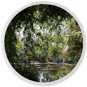 Round Beach Towel featuring the photograph Jardin Majorelle 2 by Andrew Fare