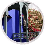 Round Beach Towel featuring the photograph Jardin Majorelle 3 by Andrew Fare