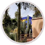 Round Beach Towel featuring the photograph Jardin Majorelle 4 by Andrew Fare
