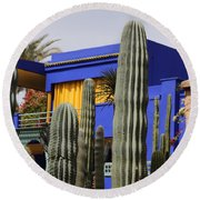 Round Beach Towel featuring the photograph Jardin Majorelle 5 by Andrew Fare