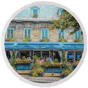 Jardin Nelson On Rue Saint-jacques Round Beach Towel