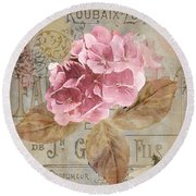 Jardin Rouge II Round Beach Towel by Mindy Sommers