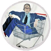 Jarvis Cocker 'off Yer Trolley' Round Beach Towel
