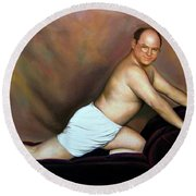 Jason Alexander As George Costanza Round Beach Towel