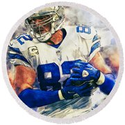 Jason Witten Round Beach Towel