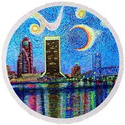 Jax,fla #2 Round Beach Towel