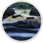 Round Beach Towel featuring the photograph Jay Cooke State Park by Heidi Hermes