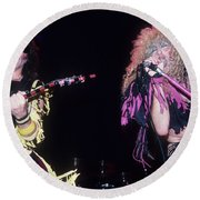 Jay Jay French And Dee Snider Round Beach Towel