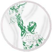 Jaylen Brown Boston Celtics Pixel Art 12 Round Beach Towel