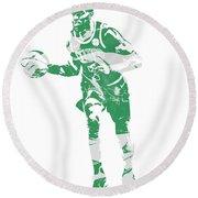 Jaylen Brown Boston Celtics Pixel Art 30 Round Beach Towel