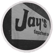 Jay's Department Store In Bw Round Beach Towel