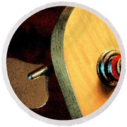 Jazz Bass Tuner Round Beach Towel