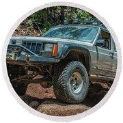 Jeep Cherokee Round Beach Towel