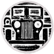 Jeep Round Beach Towel by Jame Hayes