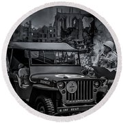Jeep Round Beach Towel