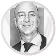 Jeff Bezos Round Beach Towel