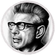 Jeff Goldblum Round Beach Towel