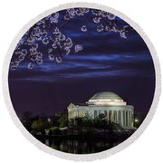 Jefferson Cherry Sunrise Round Beach Towel