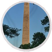 Round Beach Towel featuring the photograph Jefferson Davis Monument - Fairview Kentucky 001 by George Bostian