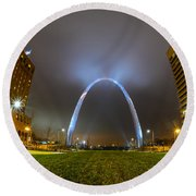Jefferson Expansion Memorial Gateway Arch Round Beach Towel