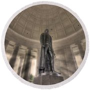Jefferson Memorial Round Beach Towel by Shelley Neff