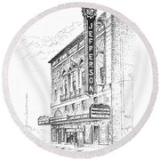 Jefferson Theatre Round Beach Towel