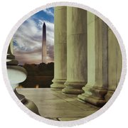 Jefferson Washington Round Beach Towel