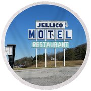 Jellico Motel Round Beach Towel