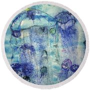 Jellyfish I Round Beach Towel
